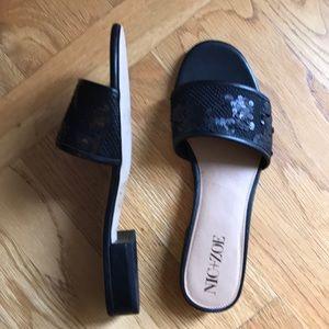 NIC+ZOE Sandy Sequin Low Heel Slide NEW Size 10M